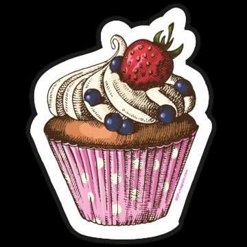 Ružový cupcake