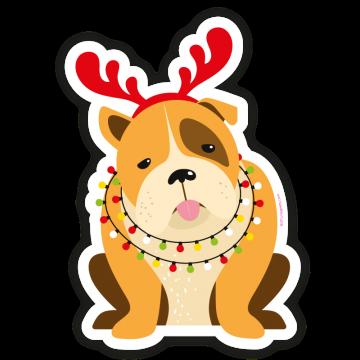 Vianočný buldog