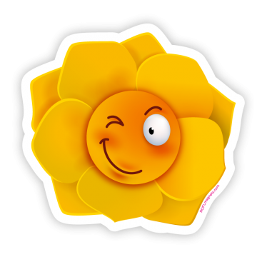 Fröhliche Blume