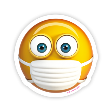 Emoji with medical mask