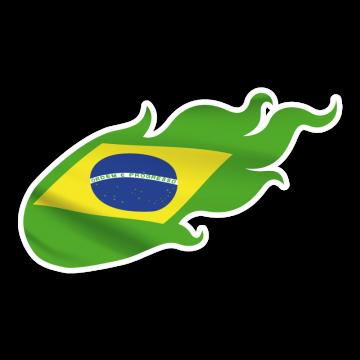 Ohnivá vlajka BRA