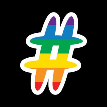 Dúhový Hashtag