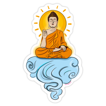 Buddha on the clound